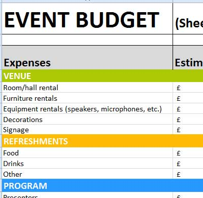 Event Budget Excel Templates That You Will Love