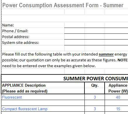 summer winter power consumption